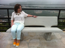 IRO white T-shirt, Mint Green Gap jeans, Yellow Bensimon